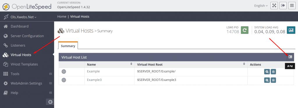 Name-Based Virtual Hosting on OpenLiteSpeed • OpenLiteSpeed