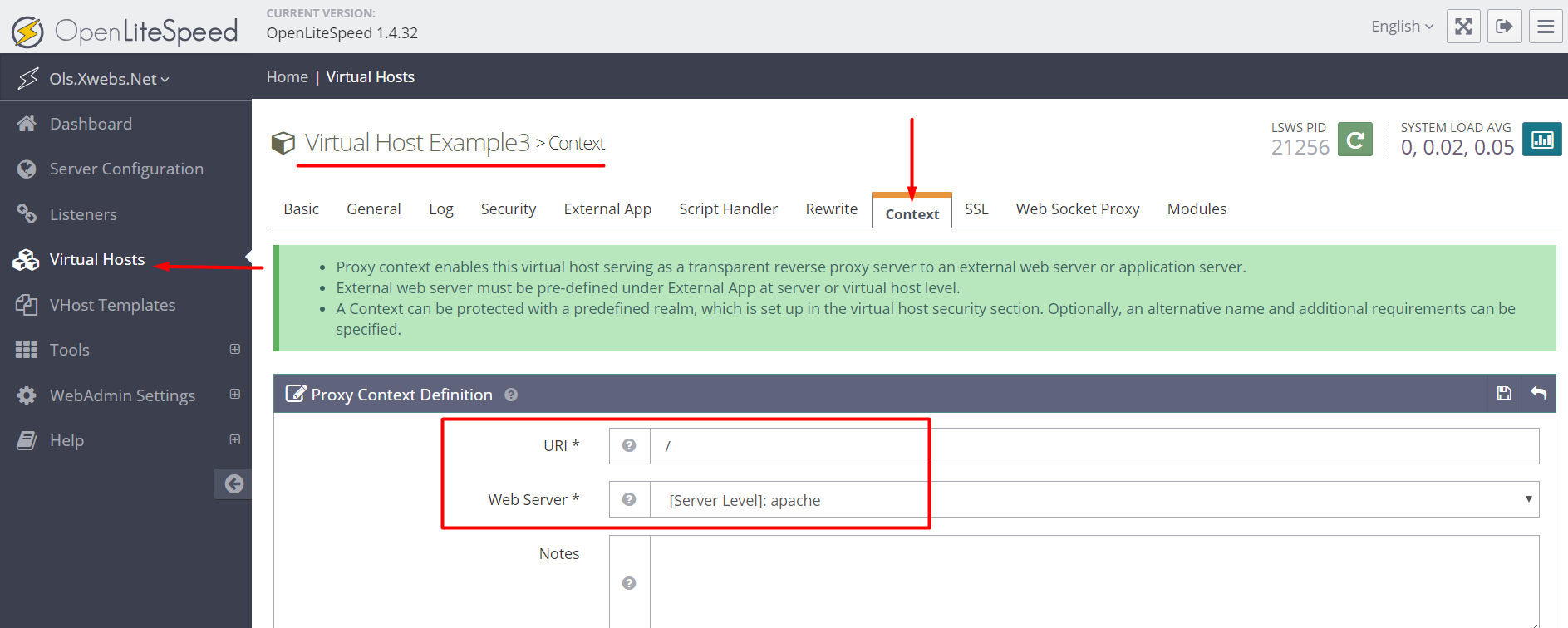 Setting up OpenLiteSpeed as a Reverse Proxy • OpenLiteSpeed